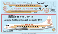 1/144 Scale Decal Alaska Convair 240