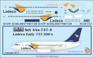 1/144 Scale Decal Ladeco 737-200