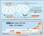 1/144 Scale Decal GOL 737-800