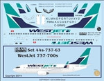 1/144 Scale Decal WestJet 737-700