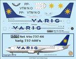 1/144 Scale Decal Varig 737-400