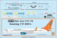 1/144 Scale Decal Sun Wings 737-800
