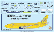 1/144 Scale Decal Buzz 737-300