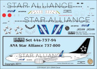1/144 Scale Decal ANA 737-800 Star Alliance