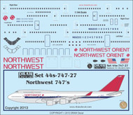 1/144 Scale Decal Norhtwest Orient 747-100 / 200 / 400