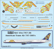 1/144 Scale Decal ATA - American Trans Air 757-300