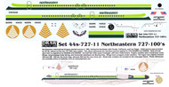 1/144 Scale Decal Northeastern 727-100