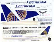 1/144 Scale Decal Continental 767-200