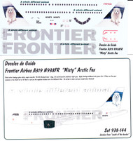 1/144 Scale Decal Frontier A-319 Arctic Fox