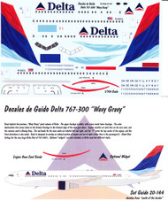 1/144 Scale Decal Delta 767-300