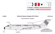 1/200 Scale Decal Airborne Express DC9-30