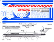 1/72 Scale Decal Piedmont 727-200