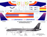 1/144 Scale Decal Air Jamaica A-320