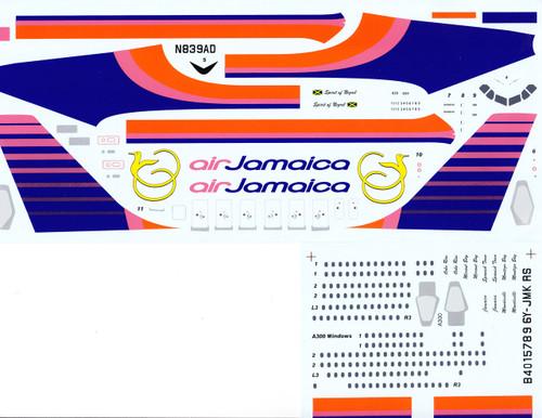 1/144 Scale Decal Air Jamaica A-300 / A-310