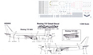 1/200 Scale Decal Detail Sheet 737