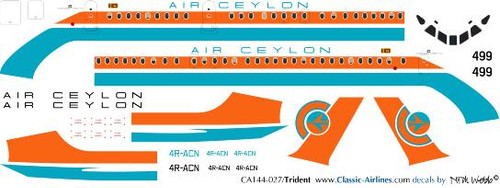 1/144 Scale Decal Air Ceylon Trident