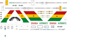 1/144 Scale Decal Ghana Airways VC-10