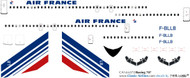 1/144 Scale Decal Air France 707 Concorde Tail