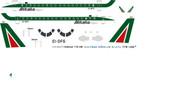 1/144 Scale Decal Alitalia Express EMB-170