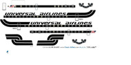 1/144 Scale Decal Universal DC8-63CF