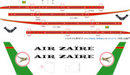 1/144 Scale Decal Air Zaire 747