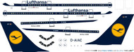 1/144 Scale Decal Lufthansa A-300