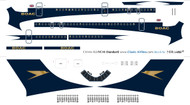 1/144 Scale Decal BOAC Golden Speedbird VC-10