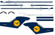 1/144 Scale Decal Lufthansa 727-200