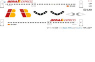 1/144 Scale Decal Iberia Express A-320