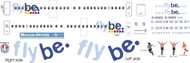 1/144 Scale Decal FlyBe Dash 8-400