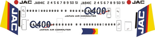 1/144 Scale Decal JAC - Japan Air Commuter Dash 8-400