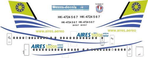 1/144 Scale Decal Aires Columbia Dash 8-400