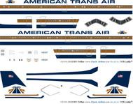 1/144 Scale Decal ATA - American Trans Air L-1011