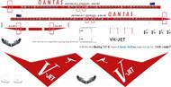 1/144 Scale Decal Qantas 737-800 Retro V-Jet