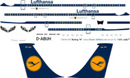 1/144 Scale Decal Lufthansa 707 Last in Service