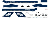 1/144 Scale Decal Southern DC9-30