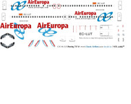 1/144 Scale Decal Air Europa 737-800
