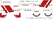 1/144 Scale Decal EAS - Europe Aero Service Vanguard