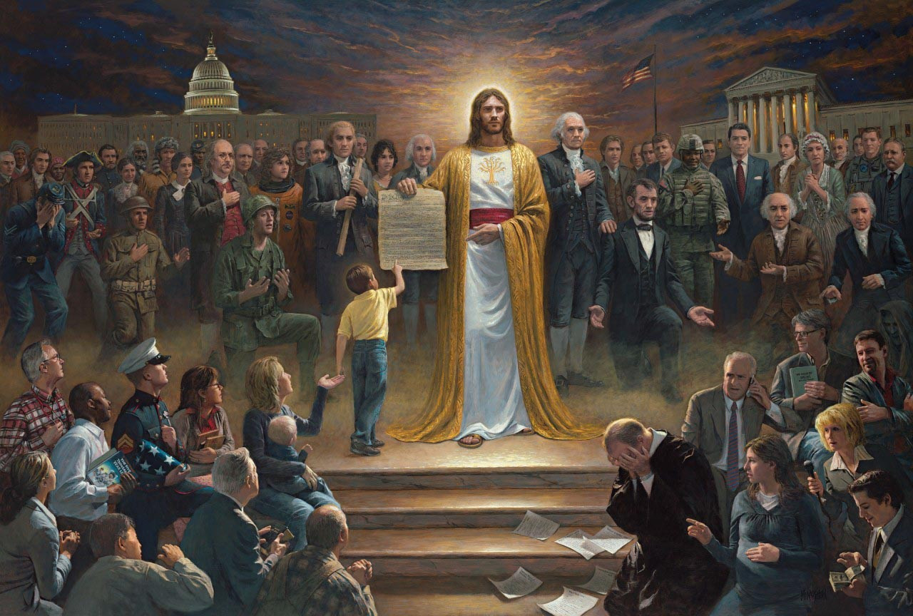 One Nation Under God Trumps Bizarre White House Painting