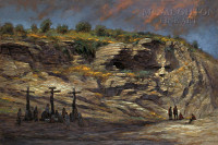 Beneath Golgotha 12x18 Signed by Artist - Giclee Canvas