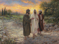 Road to Emmaus 18x24 LE Signed & Numbered - Giclee Canvas