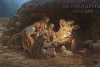 The Nativity 16X24 Signed - Litho Print