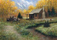 Cabin Memory 12 x 18 OE Signed by Artist - Giclee Canvas