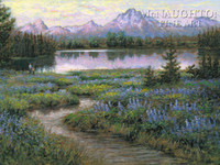 Teton Majesty 12 x 18 OE Signed by Artist - Giclee Canvas