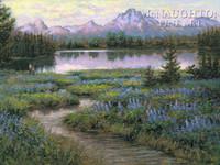 Teton Majesty 12 x 18 OE Signed by Artist - Giclee Canvas