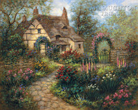 Cottage Garden 20 x 24 LE Signed & Numbered - Giclee Canvas