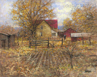 The Homestead 20 x 24 LE Signed & Numbered - Giclee Canvas