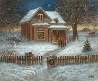 Christmas Carolers OE 11x14 - Litho Print