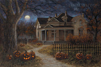 Happy Halloween 12x18 OE Signed by Artist - Giclee Canvas