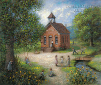 Old Schoolhouse 12x16 LE Signed & Numbered - Giclee Canvas